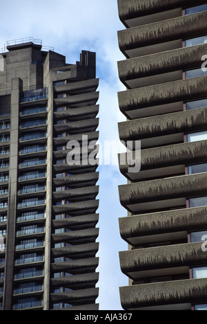 High Rise Blocks at The Barbican Complex London England - Stock Photo