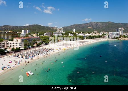 Beach, Palma Nova, Bay of Palma, Mallorca, Balearic Islands, Spain - Stock Photo
