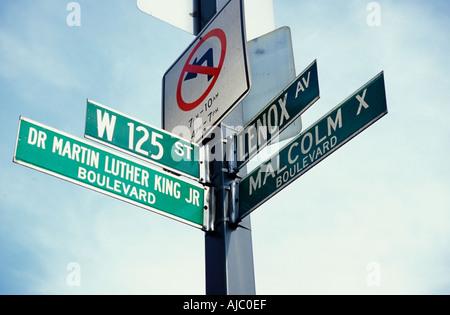 Harlem street sign, 125th Street. New York City, USA - Stock Photo