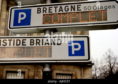 car parks ni france town  - Stock Photo