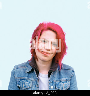 Young woman with red hair - Stock Photo
