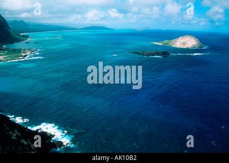 Manana Island Makapu point East Oahu Hawaii N Pacific  - Stock Photo