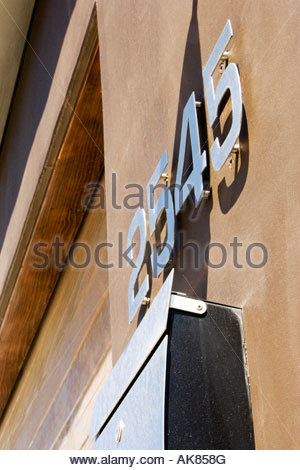 Detail of Home Address Shot From Below - Stockfoto
