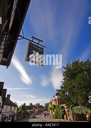 The Swan Hotel High Street Lavenham Suffolk East Anglia UK - Stock Photo
