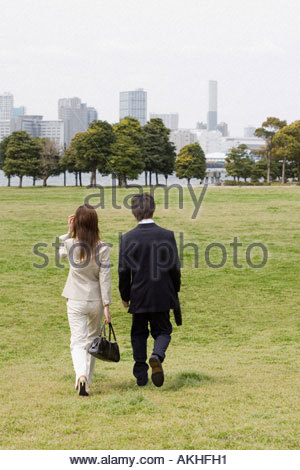 Colleagues taking a walk - Stock Photo