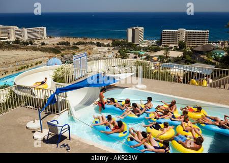 Swimming Pool At Faliraki Water Park Faliraki Rhodes Rodos The Stock Photo Royalty Free