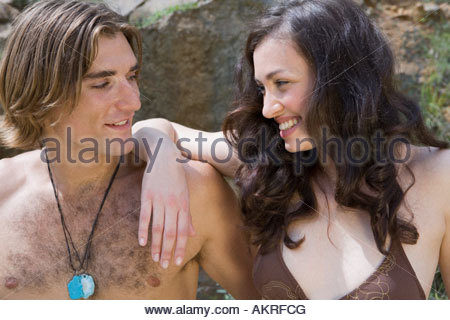 Young couple on a summer vacation - Stock Photo