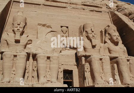 Great Temple of Rameses II Abu Simbel Egypt - Stock Photo