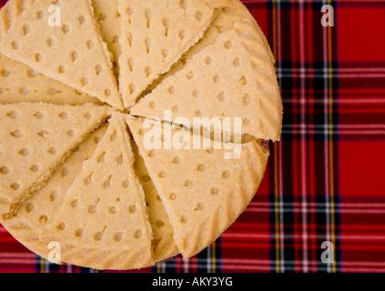 Scottish shortbread Petticoat Tails biscuit - Stock Photo