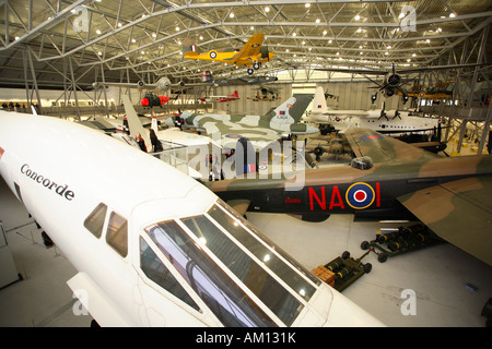 Concorde on display at AirSpace, Imperial War Museum, Duxford - Stock Photo