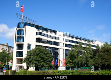 berlin willy brandt haus exterior willy brandt house spd offices stock photo 86288279 alamy. Black Bedroom Furniture Sets. Home Design Ideas
