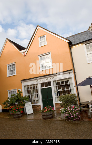Angel Gallery in the market place of Lavenham Suffolk - Stock Photo