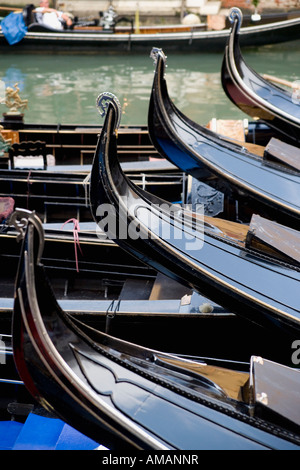 Gondolas in Venice - Stock Photo