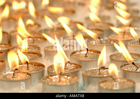 Christmas decoration, candles - Stock Photo