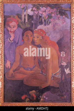'fine arts, Gauguin, Paul (1848 - 1903), painting, 'Barbarous Tales', 1902, oil on canvas, Folkwang Museum, Essen, - Stock Photo