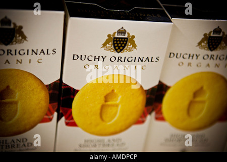 Duchy Originals highland shortbread biscuits Duchy Originals is the Prince of Wales own organic food company - Stock Photo