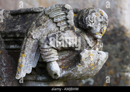 Sculpture at St Michael and All Angels Church Melksham Wiltshire England - Stock Photo