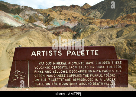 Artists Palette, Artists Drive, Death Valley, Death Valley National Park, California, USA, North America. - Stock Photo