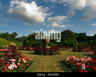 The  Garden at Nonsuch House,Nonsuch Park,Cheam,Surrey,Uk - Stock Photo