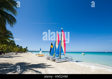 Beach outside Couples Swept Away Resort, Seven Mile Beach, Long Bay, Negril, Jamaica, Caribbean West Indies - Stock Photo