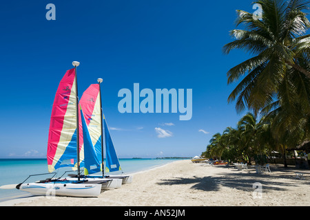 Beach outside Couples Swept Away Resort, Seven Mile Beach, Long Bay, Negril, Jamaica ,Caribbean, West Indies - Stock Photo