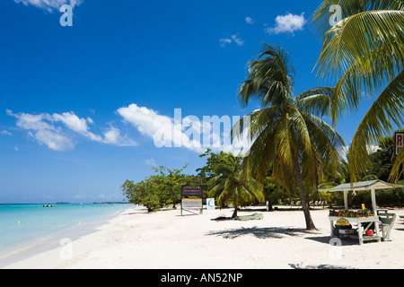 Seven Mile Beach, 'Long Bay', Negril, Jamaica, Caribbean, West Indies - Stock Photo