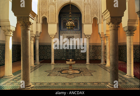Ablutions room at Moulay Ismail Mausoleum Meknes Morocco - Stock Photo