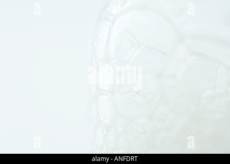 Foam bubbles, extreme close-up - Stock Photo