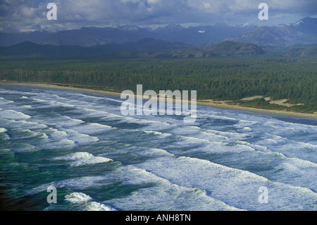 Ocean waves in stormy sea Pacific Rim National Park, British Columbia, Canada. - Stock Photo