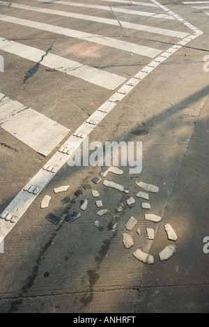 Bicycle symbol on asphalt - Stock Photo