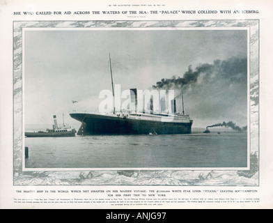 Titanic In Southampton - Stock Photo