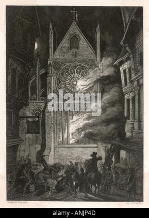 Destruction Of St Pauls - Stockfoto