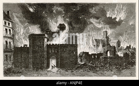 St Pauls Up In Flames - Stockfoto