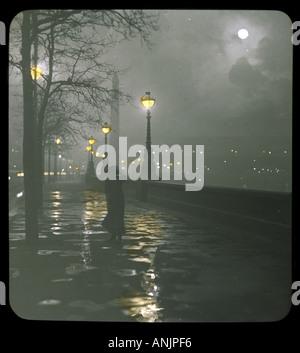 Embankment Lantern Slide - Stock Photo