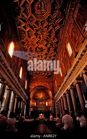 Curch Santa Maria in Trastevere Italy Rome - Stock Photo