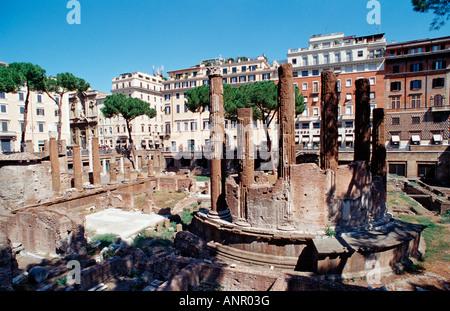 The sacred area of Largo Argentina Italy Rome - Stock Photo