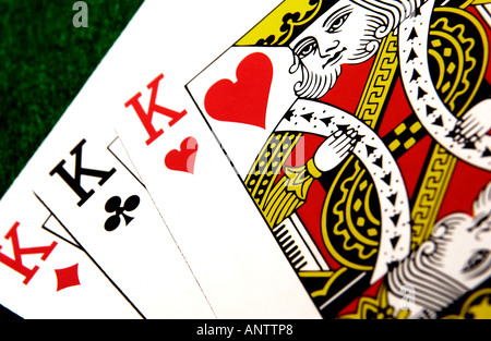 Three of a kind (Kings) - Stock Photo