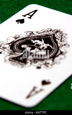 Ace of Spades or Death Card - Stock Photo