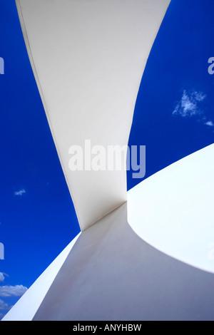 architecture detail of the futuristic national museum of brasilia city - Stockfoto