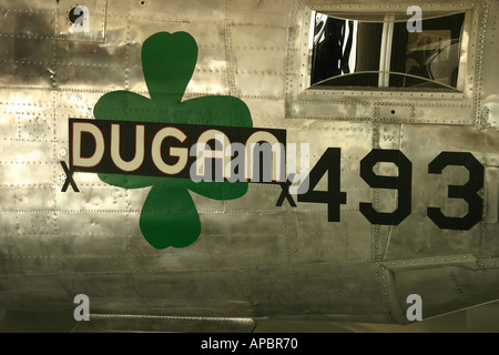Nose Art on Liberator Bomber Imperial War Museum Duxford - Stock Photo