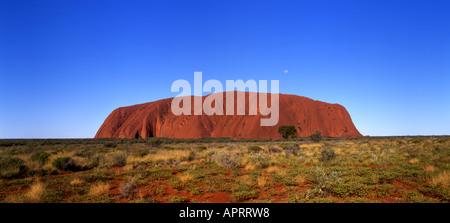 Uluru or Ayers Rock Uluru Kata Tjuta National Park Northern Territory Australia - Stock Photo
