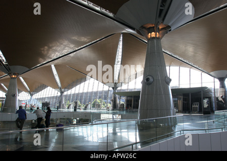 Terminal Interior Kuala Lumpur International Airport Malaysia - Stock Photo