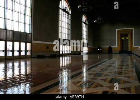 Interior Union Station, Los Angeles - Stock Photo