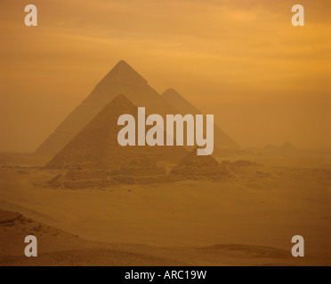 The Pyramids, Giza, UNESCO World Heritage Site, near Cairo, Egypt, North Africa, Africa - Stock Photo