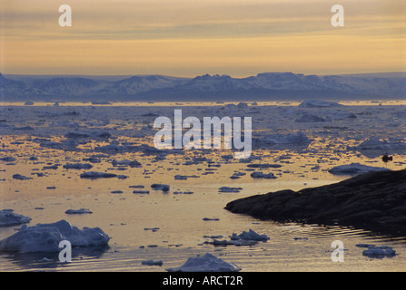 Icebergs from the icefjord, Ilulissat, Disko Bay, Greenland, Polar Regions - Stock Photo