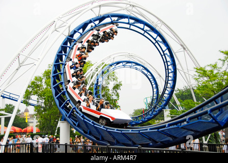 Cedar Point Amusement Park at Sandusky Ohio OH - Stock Photo