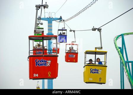 Cedar Point Amusement Park at Sandusky Ohio OH - Stock Photo