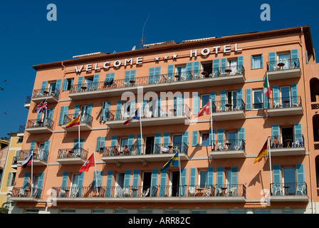 The Welcome hotel of Villefranche sur Mer - Stock Photo