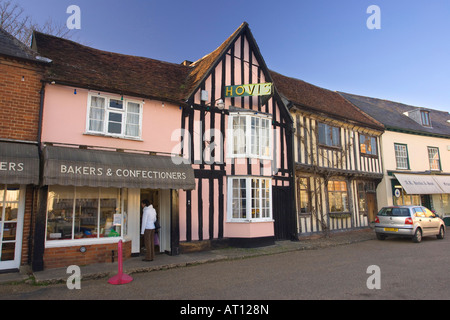 in the Market Place of Lavenham, Suffolk, UK, 2008 - Stock Photo