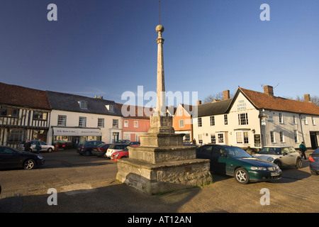 The Market Place in Lavenham, Suffolk, UK, 2008 - Stock Photo